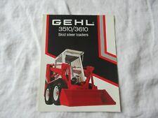 Gehl 3510 3610 Skid Steer Loader Brochure