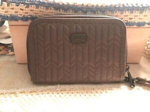 lug RODEO wallet with wrist strap walnut brown rfid