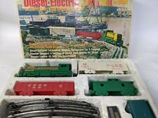 Vintage MARX Diesel Switcher Locomotive Train Set Western Pacific Original Box