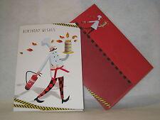 B45 Greeting Card, Happy Birthday Chef with Fire Extinguisher, Burgoyne