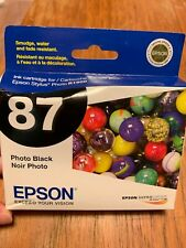 GENUINE EPSON T0871 PHOTO BLACK INK STYLUS PHOTO R1900 C13T087120 NEW #87