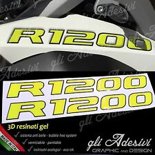 2 Adhésifs de Réservoir Moto BMW R 1200 GS Adventure LC 245 X 25 cm 3D Jaune