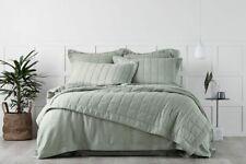 Sheridan Abbotson Belgian Linen Bed Cover Pistachio