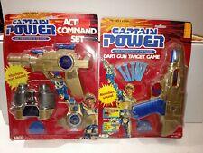 VINTAGE CAPTAIN POWER ACTION COMMAND SET & DART GUN TARGET GAME NEW