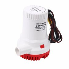 2000GPH 12V Electric Marine Submersible Bilge Sump Water Pump for Boat Yacht RV