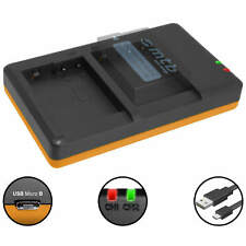 Cargador doble BP-DC12 para Panasonic Lumix DMC-FZ200,FZ300, FZ1000, FZ2000