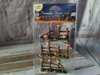 Lemax Pumpkin Fence Halloween Village Collection Pumpkin Hollow Set of 3 NEW