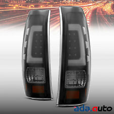 For 99-06 Chevy Silverado GMC Sierra Smoke Led White Tube Left&Right Tail Lights