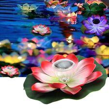 Romantic Solar Power LED Floating Night Light Lotus Flower for Garden Pool Pond