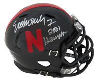 Eric Crouch Signed Nebraska Black Riddell Mini Helmet w/2001 Heisman - SS COA