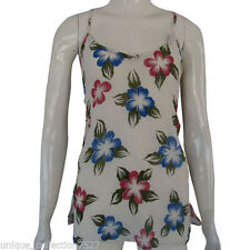 Regular Size Casual Floral Halter Tops & Blouses for Women