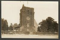Postcard Laleham Church nr Staines Middlesex clock tower posted 1916 RP by WHA