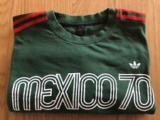 Adidas Mexico 70 Men's Green & Red T-Shirt Retro/Vintage *Rare* UK L