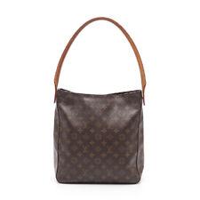 LOUIS VUITTON looping GM Monogram shoulder bag PVC leather brown