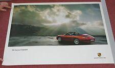 2001 Factory Porsche Poster 911 Carrera 4 Cabriolet Red 2 Door Convertible CLEAN