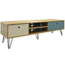 Low Wide Entertainment Storage Unit With 2 Drawers - Oak OC5461