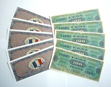 "SET DE 10 BILLETS - 100 Francs ""Allied Military Currency"" (REPRODUCTION)"