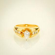 14k Gold Pear shaped Diamond Engagement Ring