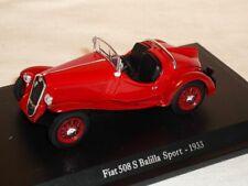 Fiat 508s 508 S Balilla Sport 1933 Rot 1/43 De Agostini Modell Auto Modellauto