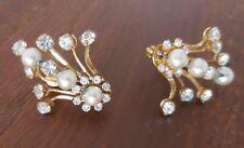 Miriam Haskell Signed Screw Back Earrings Vintage Designer Jewelry