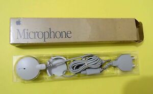 New In Box 1991 Vintage Apple Microphone 699-5104-A with 3.5mm to RCA Adapter