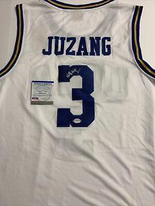 Johnny Juzang Signed Jersey PSA/DNA COA UCLA Bruins Final Four Patch Adult Large