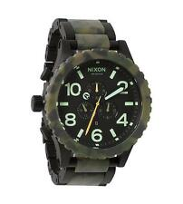 Nixon Stainless Steel Band Adult Round Wristwatches