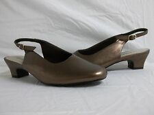 Classique Size 7.5 M Bronze Slingbacks Heels New Womens Shoes NWOB