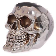 Metallische Spiegeltotenkopf Spardose / Gothic / Halloween / Skull / Biker