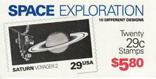 SPACE EXPLORATION STAMP BOOKLET -- USA #2568-2577 29 CENT 20 STAMPS , 10 UNIQUE