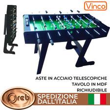 Calcio Balilla calcetto biliardino 121cm MDF PIEGHEVOLE RICHIUDIBILE