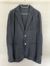 Massimo Dutti Mens Blue Extrafine Cotton Jacket Blazer Size 38 UK 48 EUR