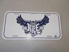 RICE OWLS  LICENSE PLATE