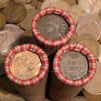 ✯ (1859-1958) Lincoln Wheat Cent Penny Rolls ✯ WITH INDIAN CENTS!