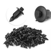 100x 6mm Hole Dia Plastic Push In Type Rivets Fastener Pin Clips ATV Kit st