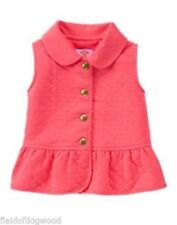 NWT Gymboree Girls Woodland Wonder Pink Vest Size 12-24 M