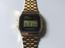 Retro Casio Gold Alarm Chrono WR A159WGE Digital Watch