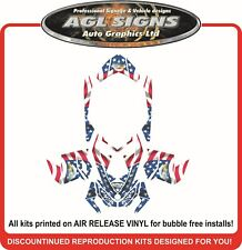 USA PATRIOT SLED WRAP  for SKI-DOO XP 2008 - 2012  mxz summit renegade decal