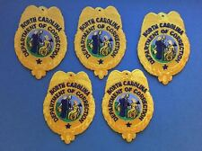 5 Lot Rare North Carolina Department of Corrections Collectable Patches Crests