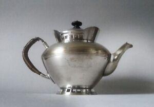 Rare Hans Ofner/Josef Hoffmann secessionist lidded coffee pot, Argentor 1902
