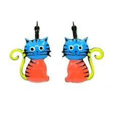 Boucles d'oreilles LOL Bijoux LOLILOTA Le chat assis orange Cat BFLOL052-bleu
