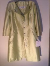 NewChristianDiorDressWithTag,Authentic,Citron100%Silk,Size42(USA4).MadeinFrance.