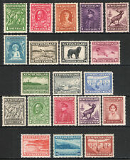 Newfoundland 1932-37 KGVI set of mint stamps value to 48c Mint Hinged