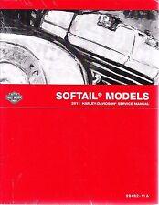 2011 Harley Softail FLS FXC Repair Service Workshop Shop Manual Book 99482-11A