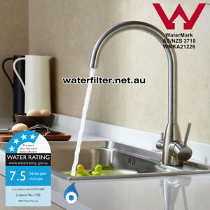 Modern Brushed Stainless Steel 3 way Kitchen Mixer Tap Hot+Cold + Filtered Water