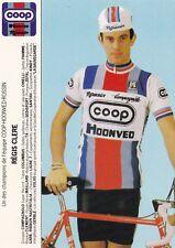 CYCLISME carte cycliste REGIS CLERE équipe COOP HONVED ROSSIN 1984