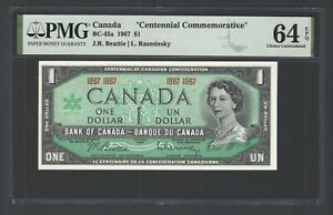 Canada One Dollar 1967 BC-45a Uncirculated Grade 64