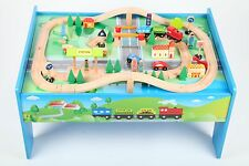 point-kids Wooden railway Set Table + 70 Share Train complete set new wood