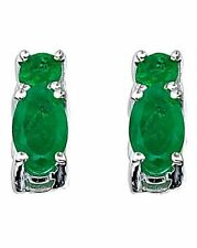 Emerald Topaz Drop/Dangle Fine Earrings