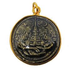 Naga Pu Si Suttho Talisman Pendant Wealth Lucky Coin Dragon Thai Buddha Amulet